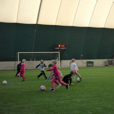 VPS' fotbollsdag för förskolebarn i Vasa.