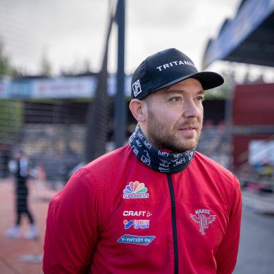 Pesäpalloilija ja Manse PP:n lukkari Juha Puhtimäki, Tampere, 23.5.2021.