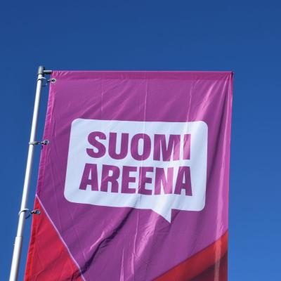 Suomi-areenan banneri