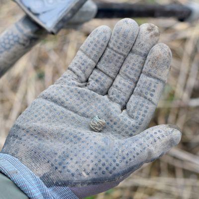 En lerig bronspärla från vikingatiden