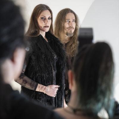 Nightwishin Tuomas Holopainen ja Floor Jansen Levillä.