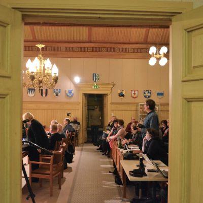 Fusionsomröstningen i fullmäktige i Kaskö.