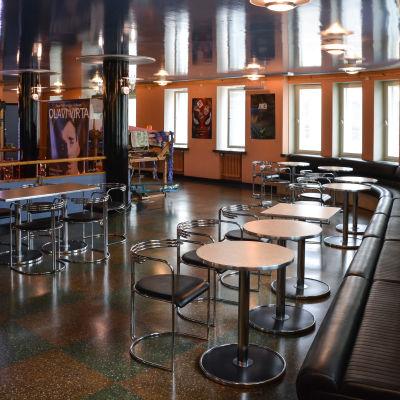 Kaféteriat i Kino Marilyn i Lovisa