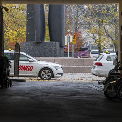 Taksi Helsingissä.