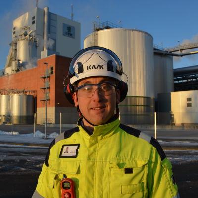 Simon Fagerudd, direktör på UPM i Jakobstad.