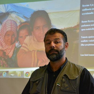 Rami Adham från Suomi Syyria yhteisö.