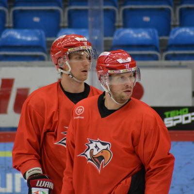 """Erik och Filip Riska hör till """"veteranerna"""" i Vasa Sport."""