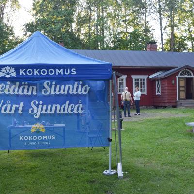 Samlingspartiets valvaka i Sjundeå