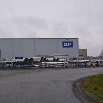 OSTP:s fabrik i Jakobstad.