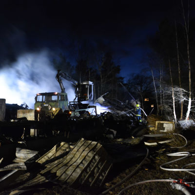 Brand vid Kimito kvarn.