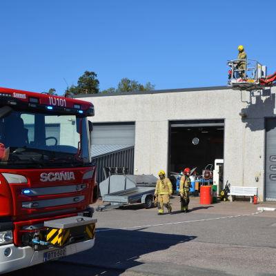 Liten brand i luftväxlingsrör hos EDM i Borgå 14.09.20