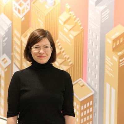 Anni Sinnemäki i Helsingfors stadshus