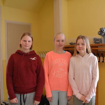 Laura,Elza och Mikael från söderkulla skola berättar sina tankar om jämnlikhet.