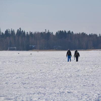 Pimpelfiskare på Haikofjärden.