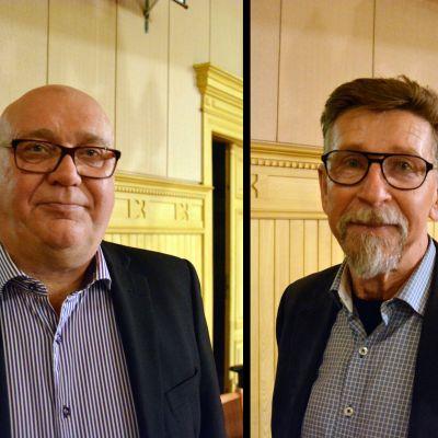 Kari Häggblom och Carl-Gustav Mangs. Bilden är ett montage.