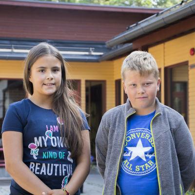Isabella Aarnio och Alvin Penttilä
