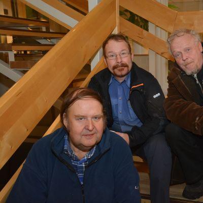 Leif Wikström, Kim Snygg och Tapsa Laasonen