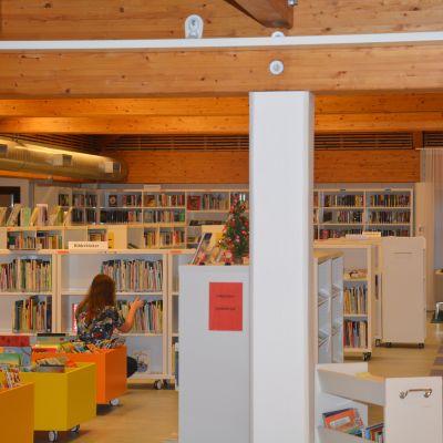 Barnavdelningen i Ekenäs bibliotek.