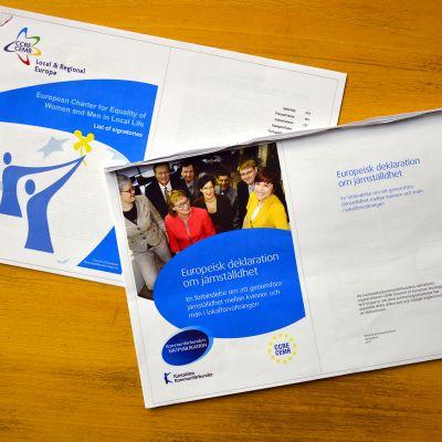 Den europeiska deklarationen om jämställdhet