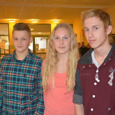Casper Lindström, Fanny Kainulainen och Alexander Lammi