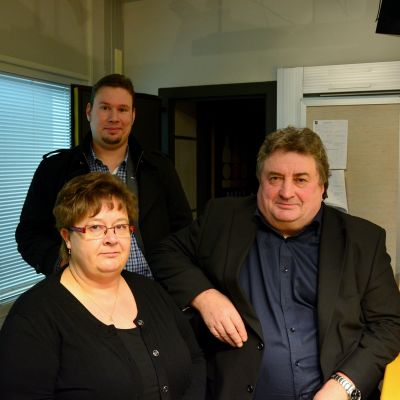 Jonas Lindholm, Anne-Mari Viinamäki och Stig Beijar