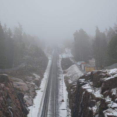 Tågbana i Sjundeå