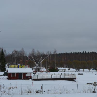 Visulahden matkailukeskus talvella