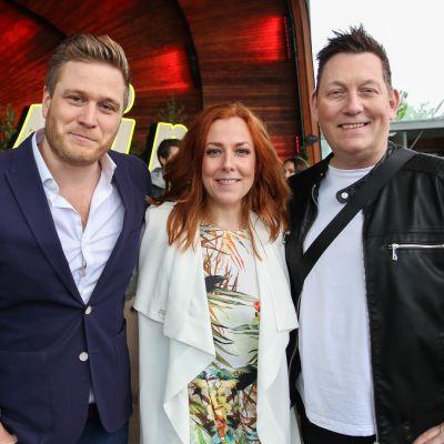 Anna Sköld, Henrik Sethsson och Andres Olsson från dansbanden Wizex, Casanovas och Sannex