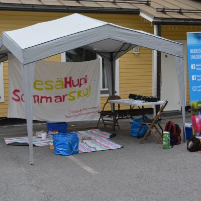 Tältet från Sommarskoj i Sibbo vid Tallmo FBK
