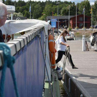 Båten till Svartholm.