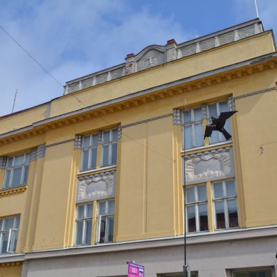 Plasthök vid krämaregatan i gamla stan i Borgå.