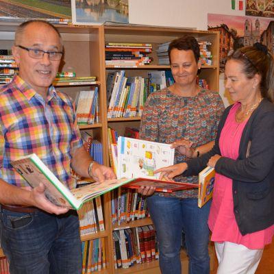 Matti Autio, Anne Vierikko och Lotta Sundell i Länsimetsän koulu gillar språkundervisning.