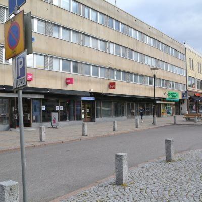 Affärer vid Borgå torg.