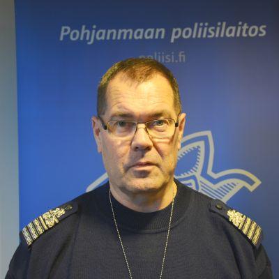 Kari Keski-Opas, biträdande polischef på Polisinrättningen i Österbotten.