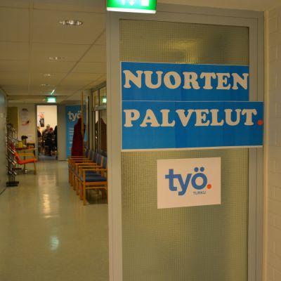 Arbetsförmedlingen Työpiste i Åbo.
