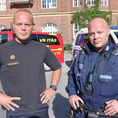 Identtiset kaksoset pelastajina Turussa - toinen poliisi, toinen palomies