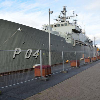HMS Carlskrona i Aura å i Åbo