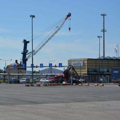 Nya trafikarrangemang vid hamnen i Vasklot.
