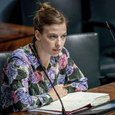 Opetusministeri Li Andersson täysistunnossa 11.9.2019
