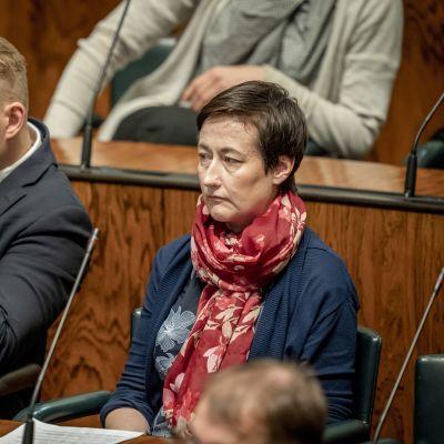 Atte Harjanne ja Hanna Holopainen eduskunnassa 12.9.2019
