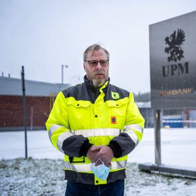 Pääluottamusmies Pertti Niemi, UPM Raflatac.
