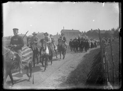 Bröllopståg på väg på bröllop år 1916