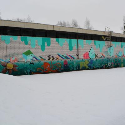 Laglig graffiti byggnad