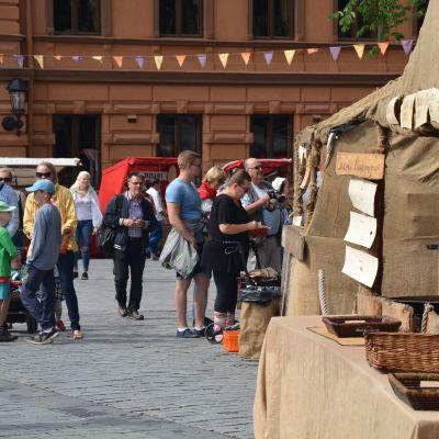 Medeltidsmarknad i Åbo 2016.