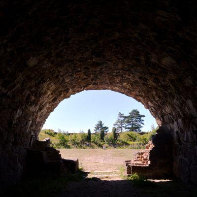En bild från fästningen i Svartholm.