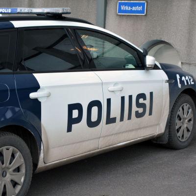 Polisbil i Borgå.