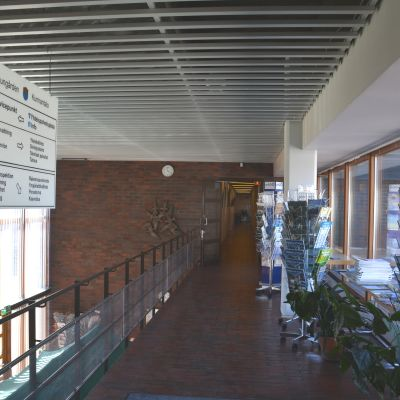 Korridor i kommungården i Ingå.