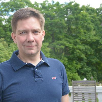 Thomas Blomqvist hemma i Raseborg.