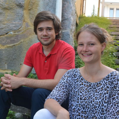 Peik Aspbäck och Sara Selenius.