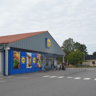 Matbutiken Lidl i Hangö.
